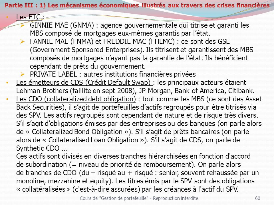 PRIVATE LABEL : autres institutions financières privées