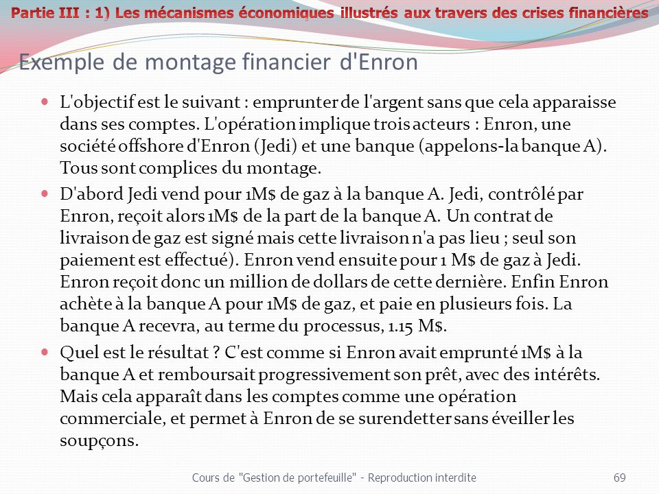 Exemple de montage financier d Enron