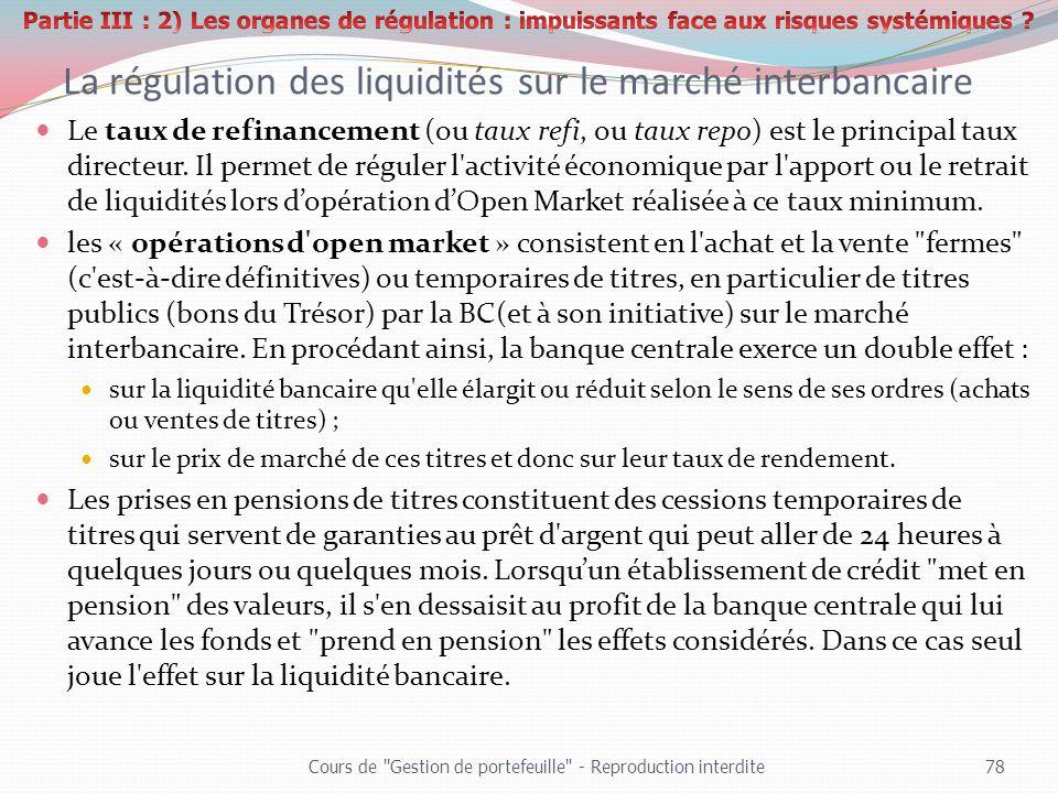 La régulation des liquidités sur le marché interbancaire