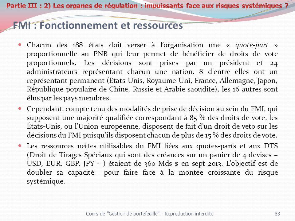 FMI : Fonctionnement et ressources
