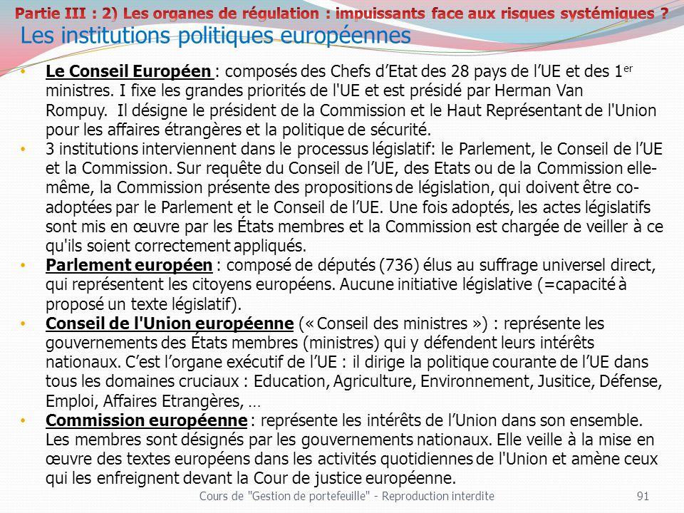 Les institutions politiques européennes