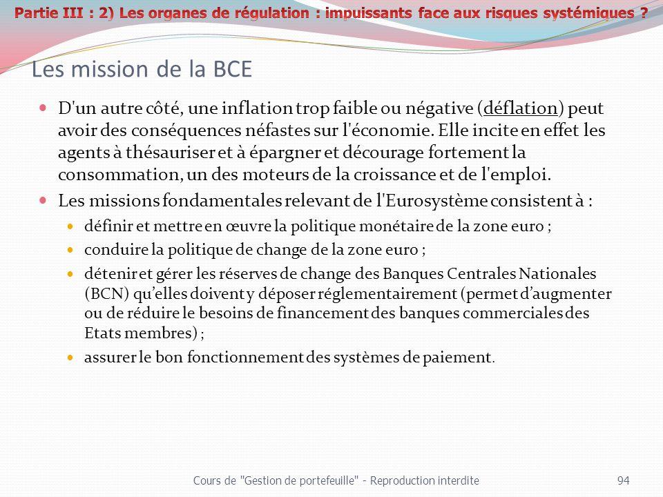 Partie III : 2) Les organes de régulation : impuissants face aux risques systémiques