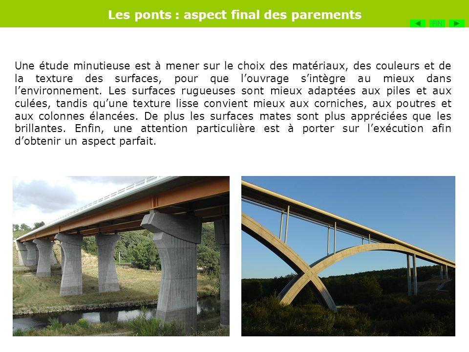 Les ponts : aspect final des parements