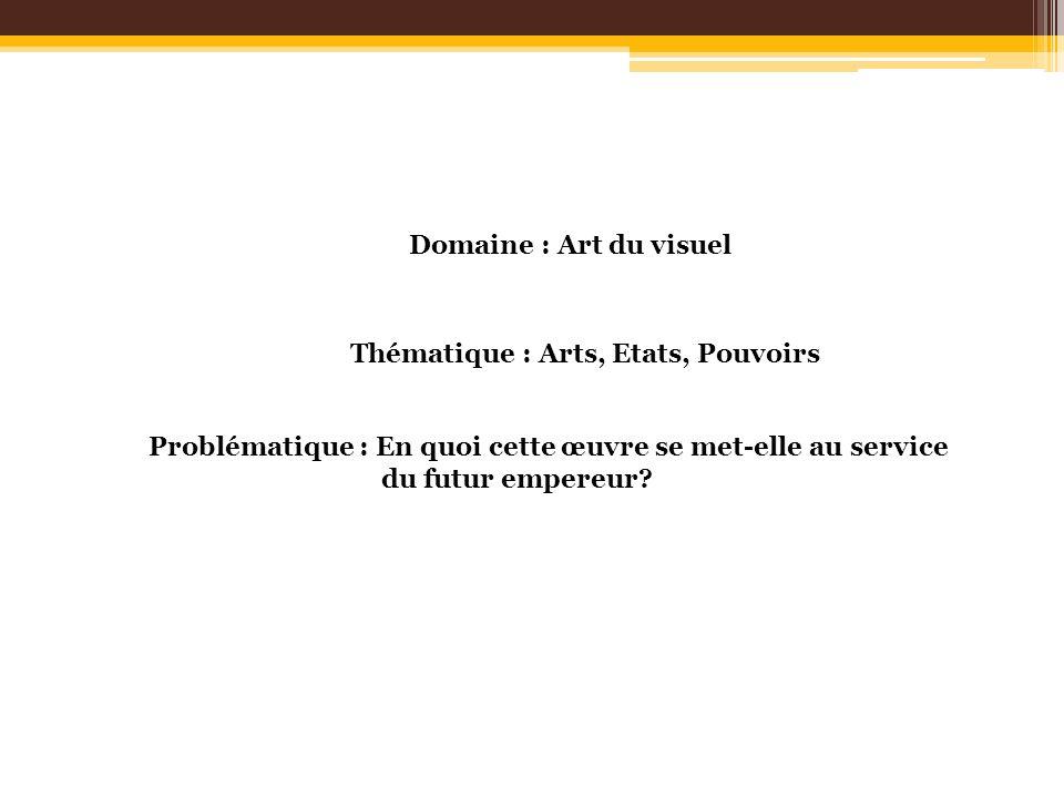 Domaine : Art du visuelThématique : Arts, Etats, Pouvoirs. Problématique : En quoi cette œuvre se met-elle au service.
