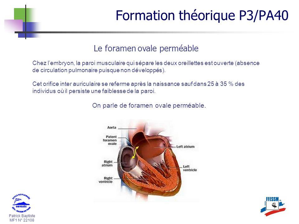 On parle de foramen ovale perméable.