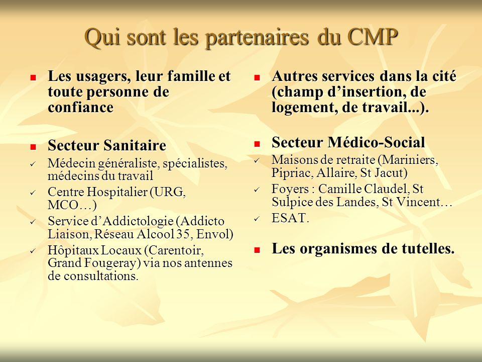 Qui sont les partenaires du CMP