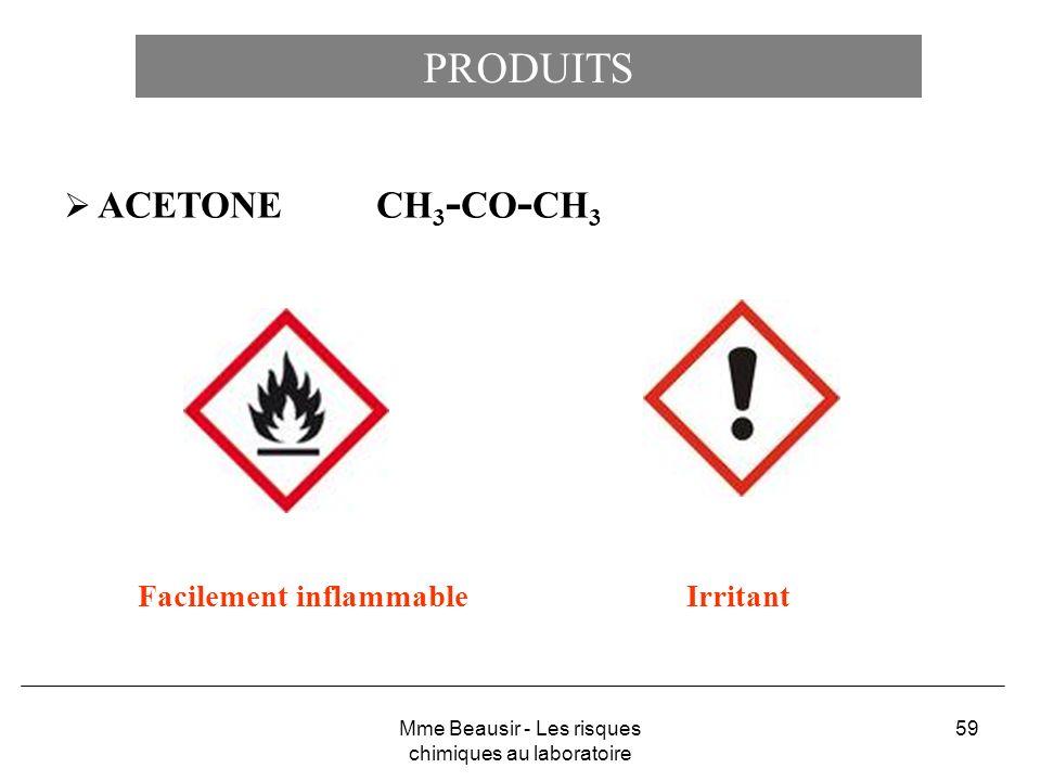 Mme Beausir - Les risques chimiques au laboratoire