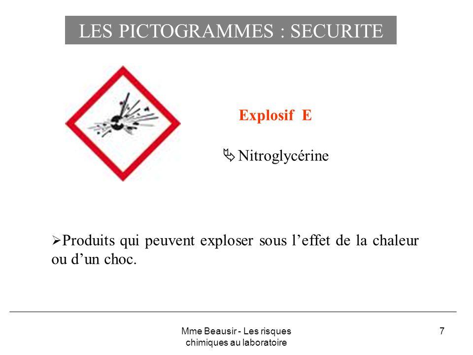 LES PICTOGRAMMES : SECURITE