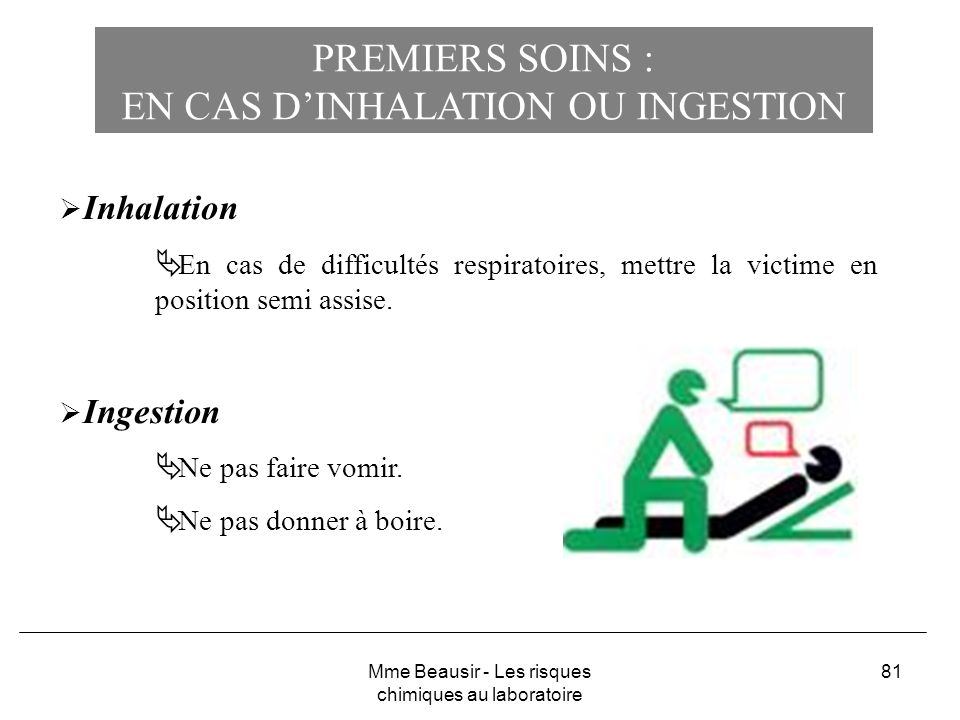 EN CAS D'INHALATION OU INGESTION