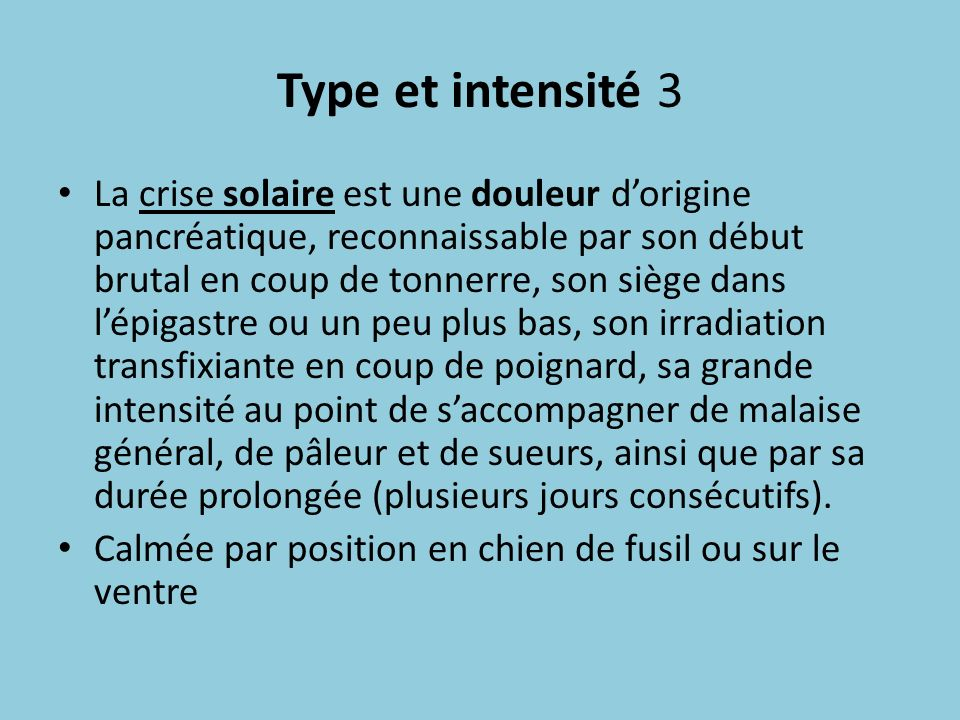 Type et intensité 3