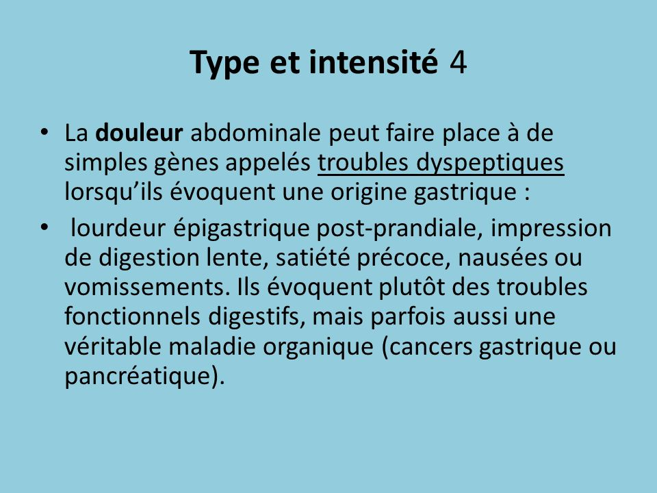 Type et intensité 4