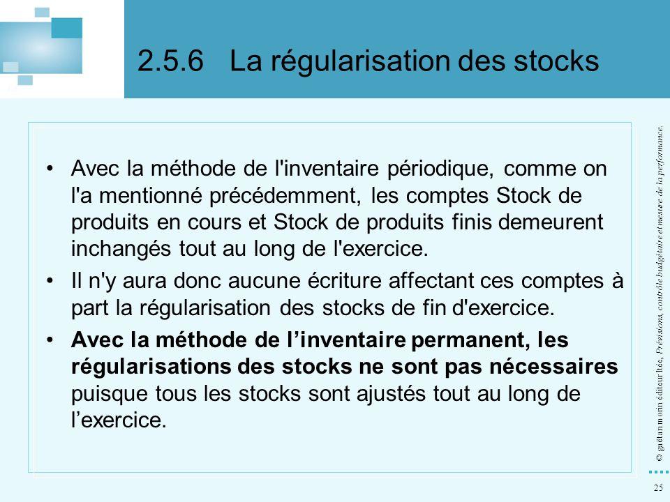 2.5.6 La régularisation des stocks