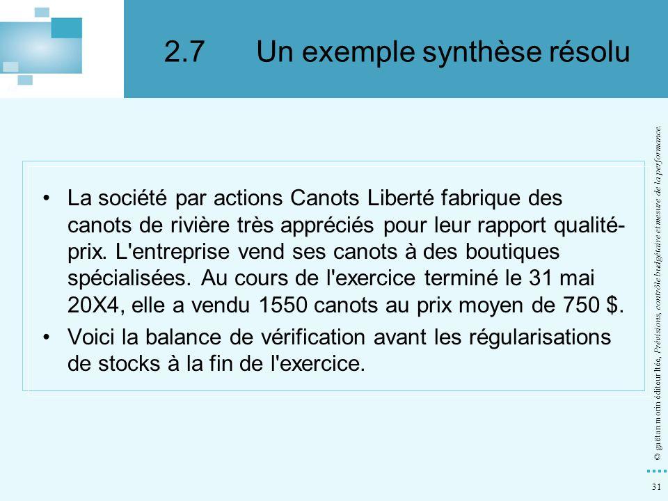 2.7 Un exemple synthèse résolu