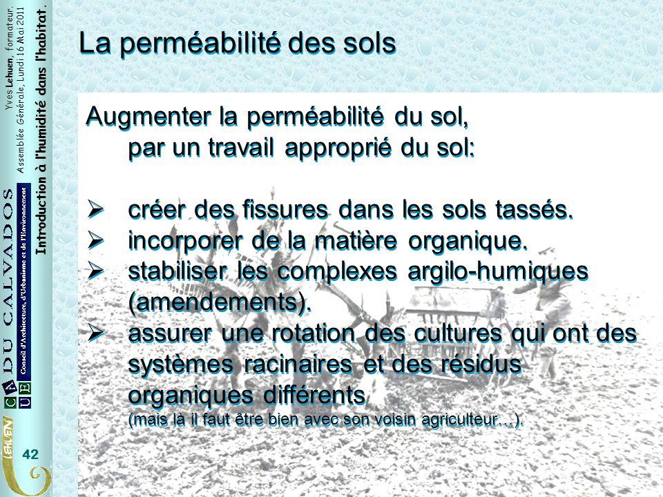 La perméabilité des sols
