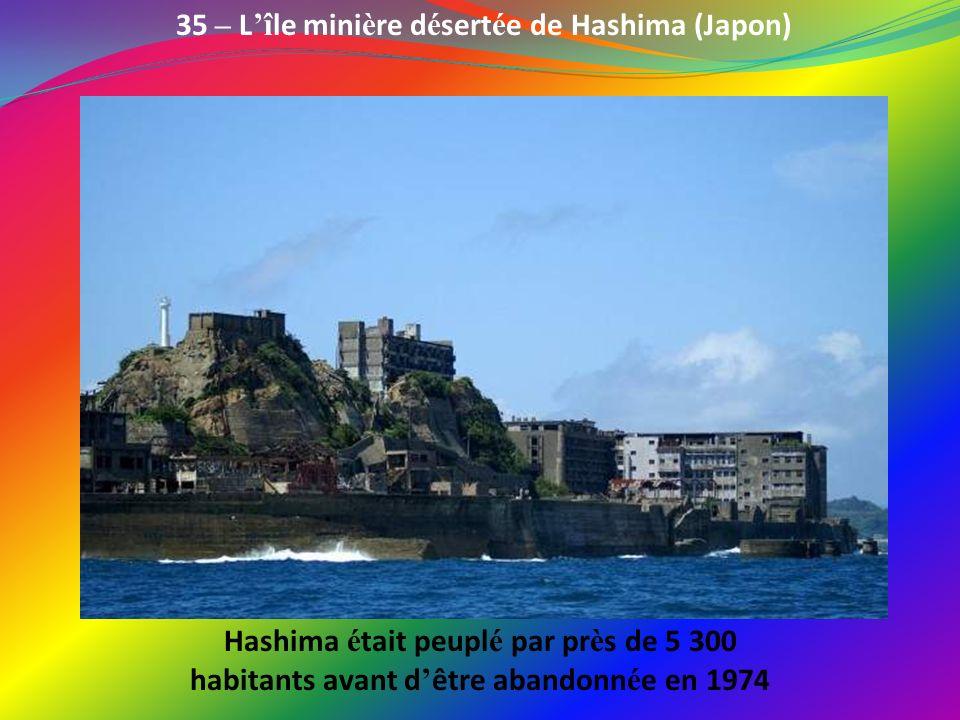 35 – L'île minière désertée de Hashima (Japon)