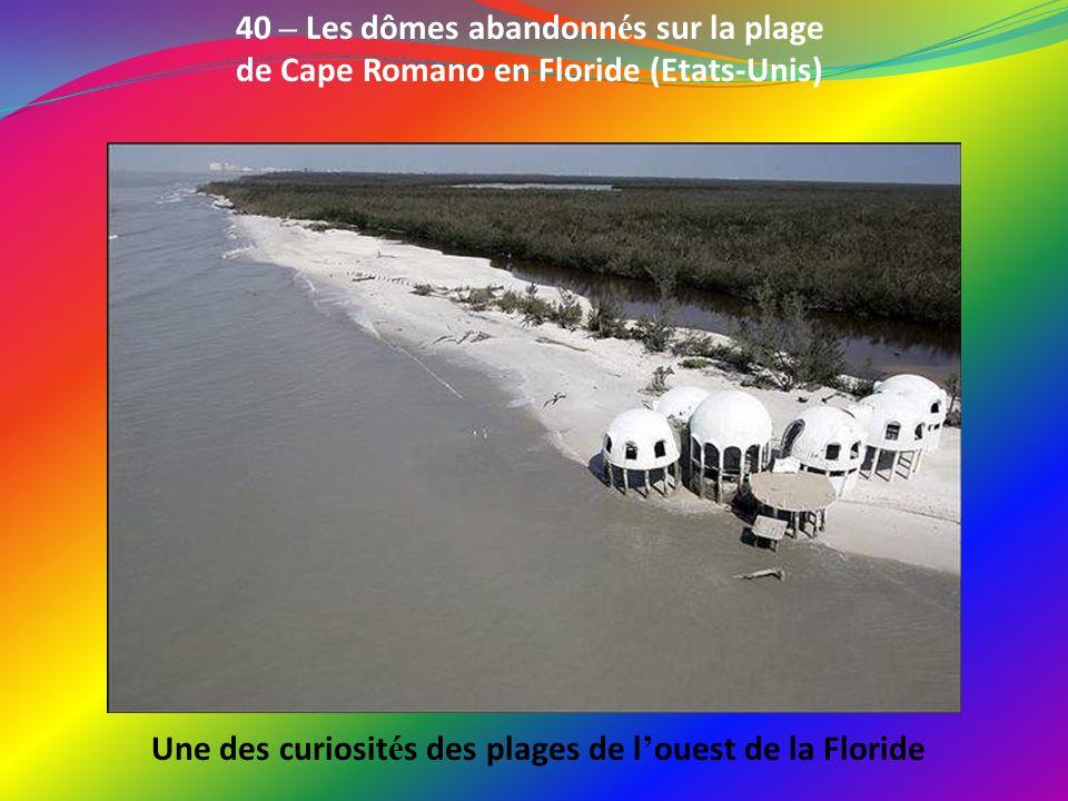 Une des curiosités des plages de l'ouest de la Floride