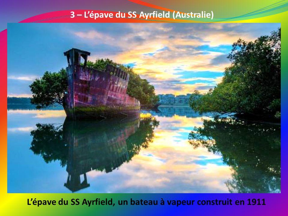 L'épave du SS Ayrfield, un bateau à vapeur construit en 1911