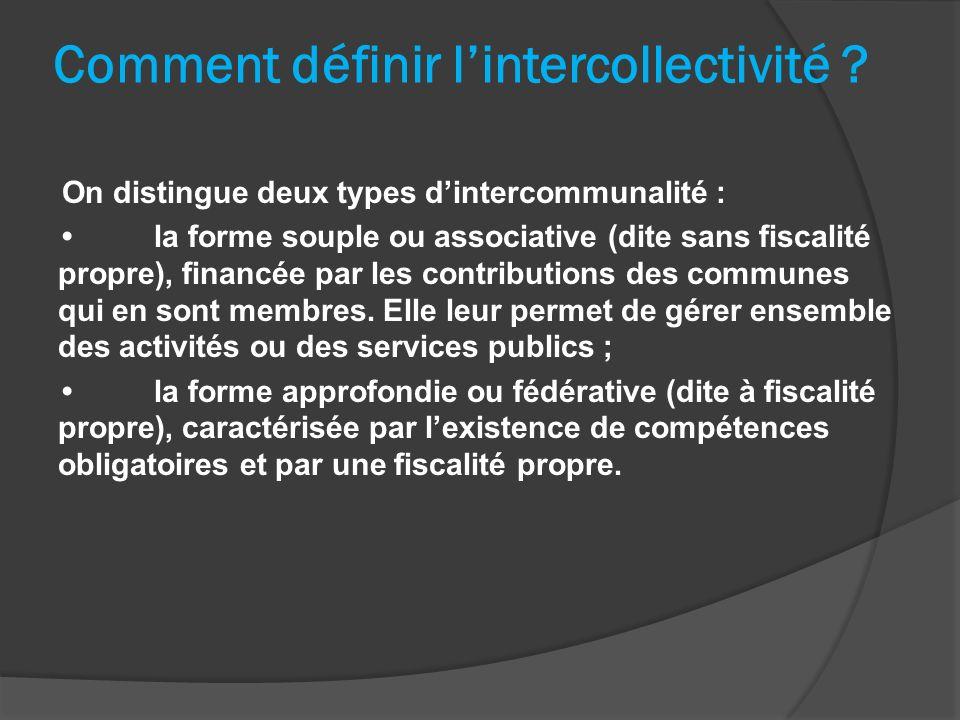 Comment définir l'intercollectivité