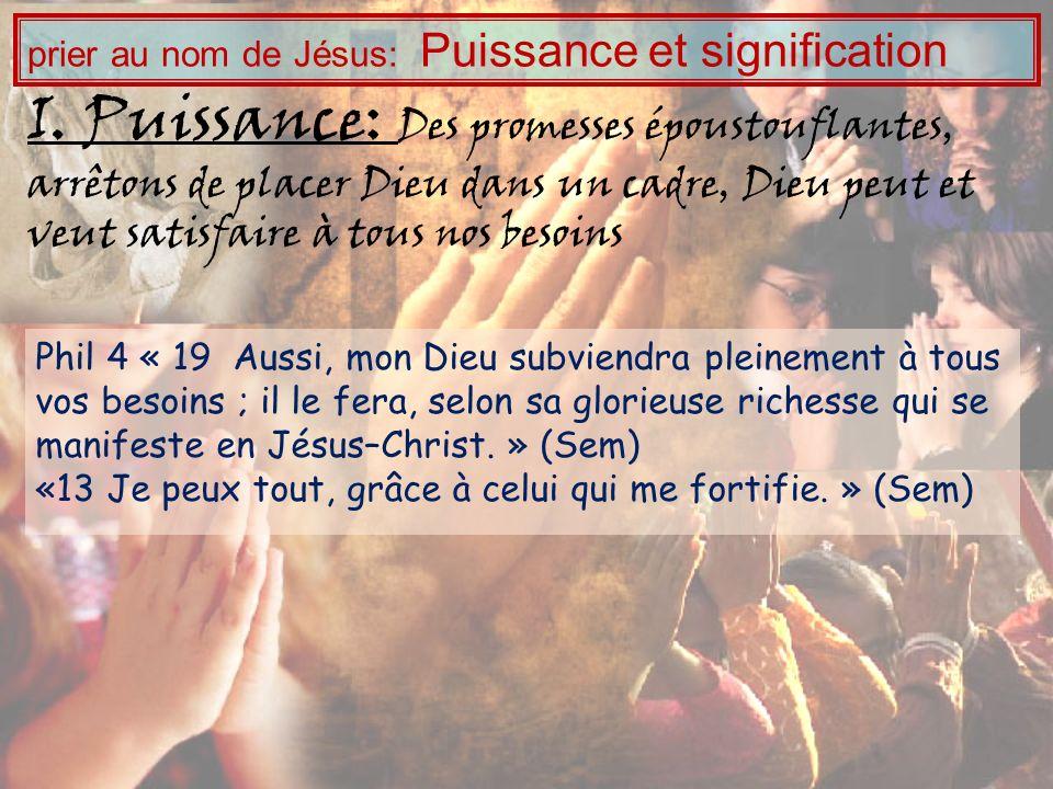 prier au nom de Jésus: Puissance et signification