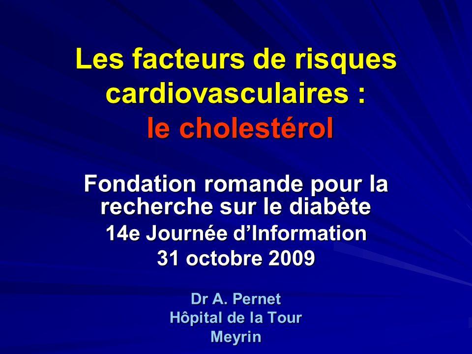 Les facteurs de risques cardiovasculaires : le cholestérol