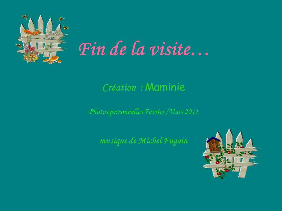 Fin de la visite… Création : Maminie Photos personnelles Février /Mars 2011 musique de Michel Fugain