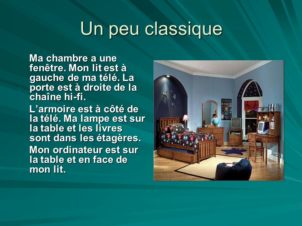 Description d une chambre ppt video online t l charger for Assi dans la fenetre de ma chambre