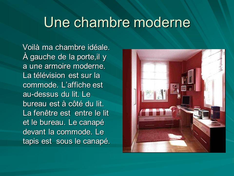 Une chambre moderne