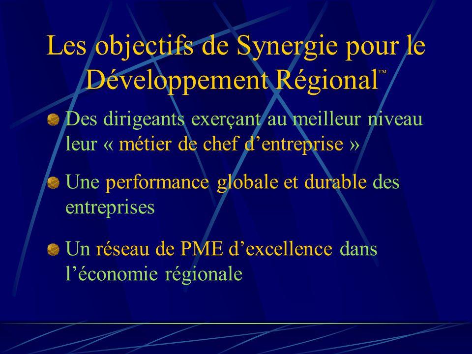 Les objectifs de Synergie pour le Développement Régional™