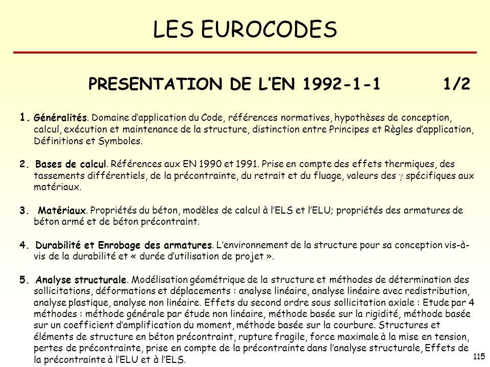 PRESENTATION DE L'EN 1992-1-1 1/2