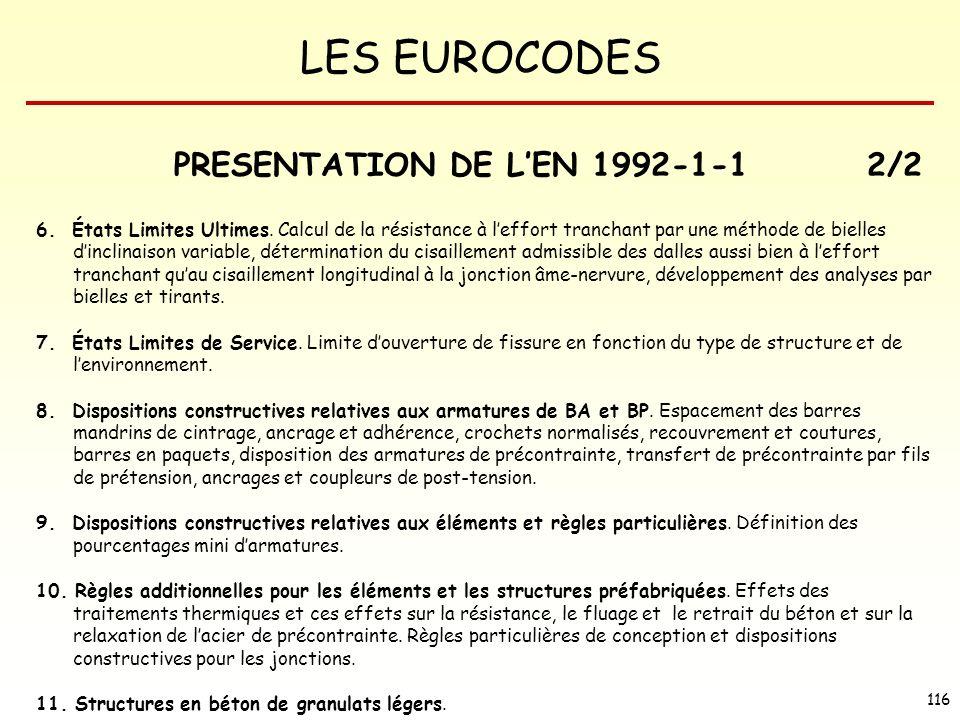 PRESENTATION DE L'EN 1992-1-1 2/2