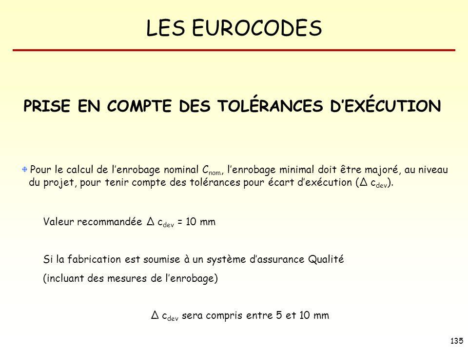 PRISE EN COMPTE DES TOLÉRANCES D'EXÉCUTION