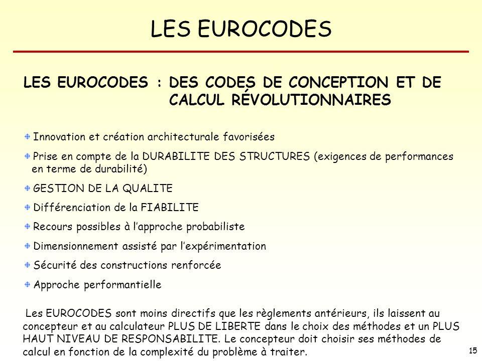 LES EUROCODES : DES CODES DE CONCEPTION ET DE CALCUL RÉVOLUTIONNAIRES