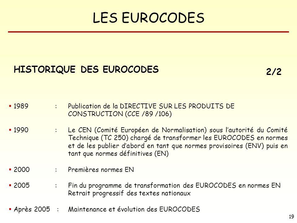 HISTORIQUE DES EUROCODES 2/2