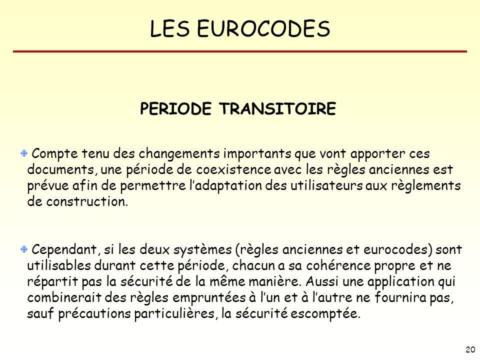 PERIODE TRANSITOIRE