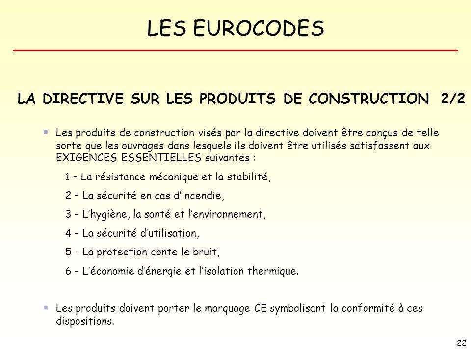 LA DIRECTIVE SUR LES PRODUITS DE CONSTRUCTION 2/2
