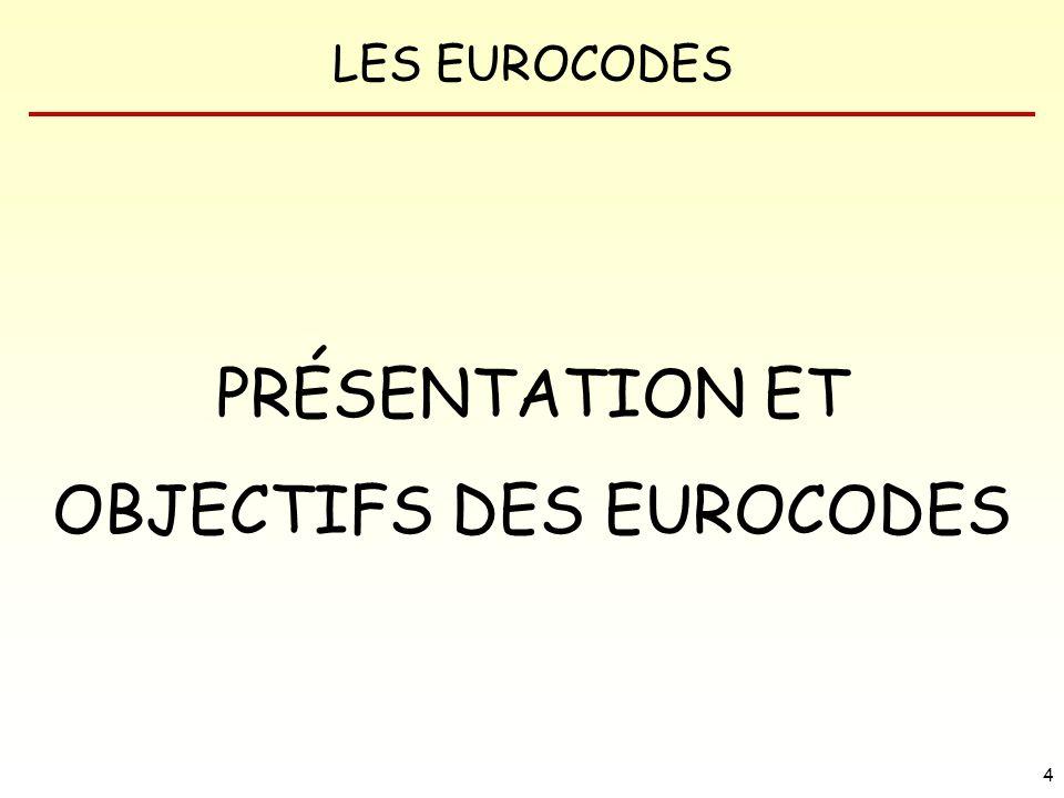 OBJECTIFS DES EUROCODES