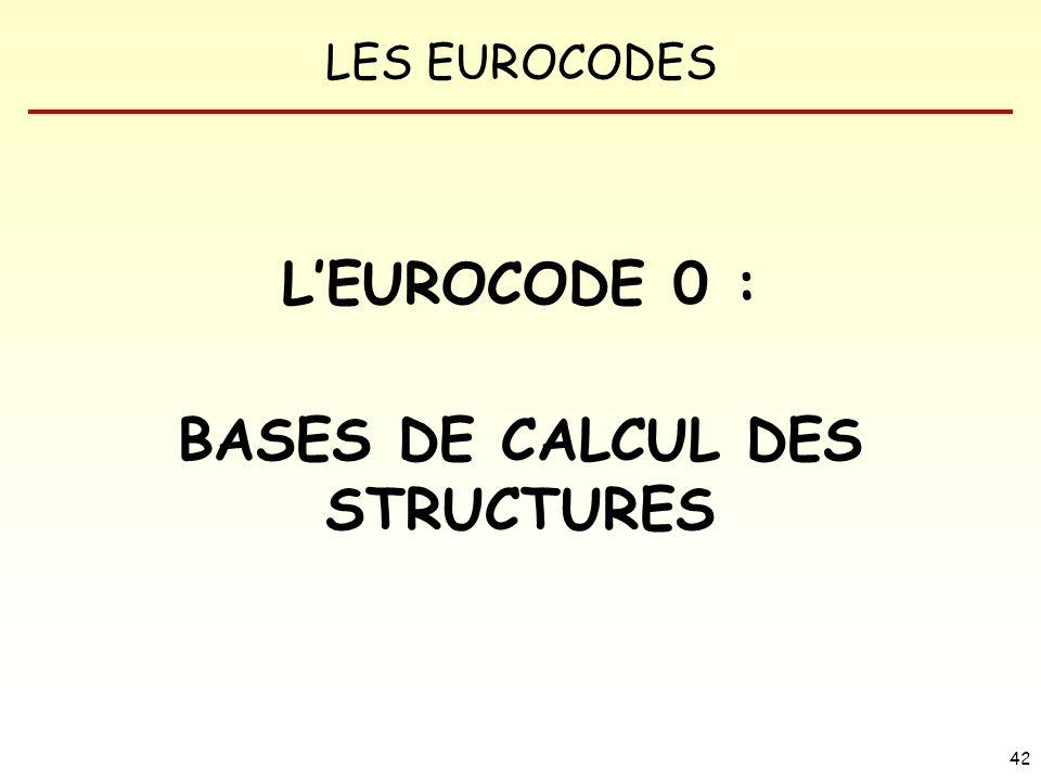 BASES DE CALCUL DES STRUCTURES