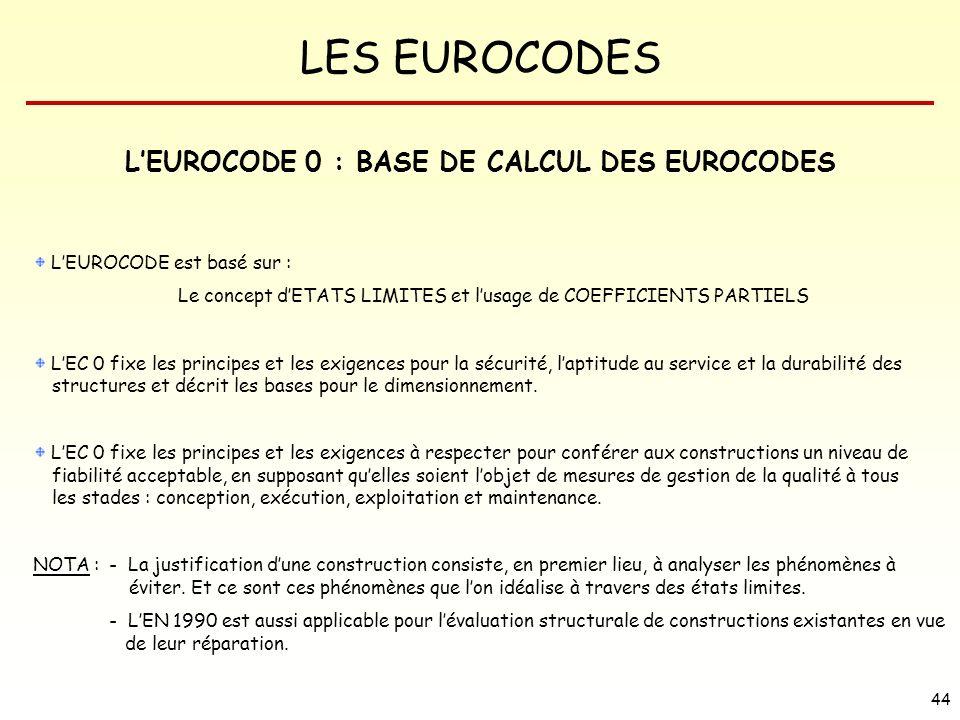 L'EUROCODE 0 : BASE DE CALCUL DES EUROCODES
