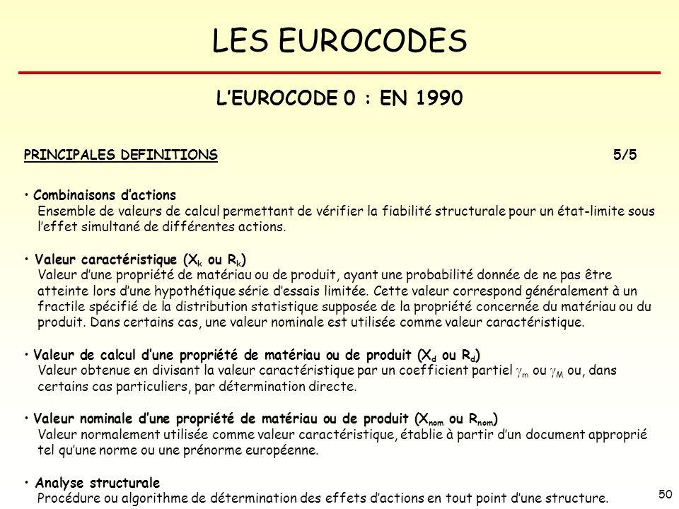 L'EUROCODE 0 : EN 1990 PRINCIPALES DEFINITIONS 5/5
