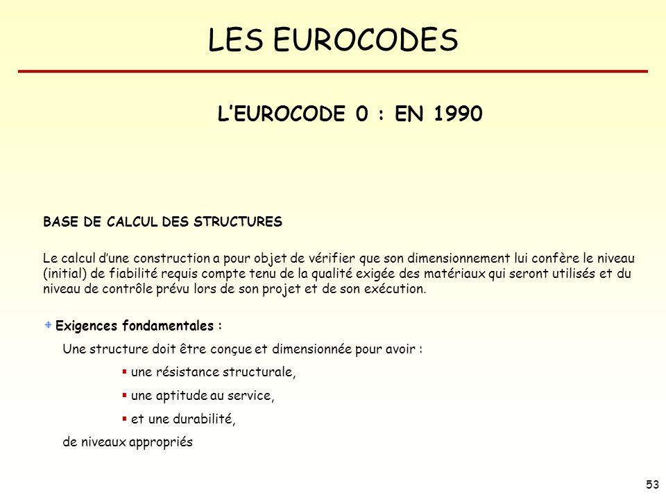 L'EUROCODE 0 : EN 1990 BASE DE CALCUL DES STRUCTURES