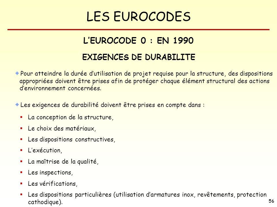 EXIGENCES DE DURABILITE