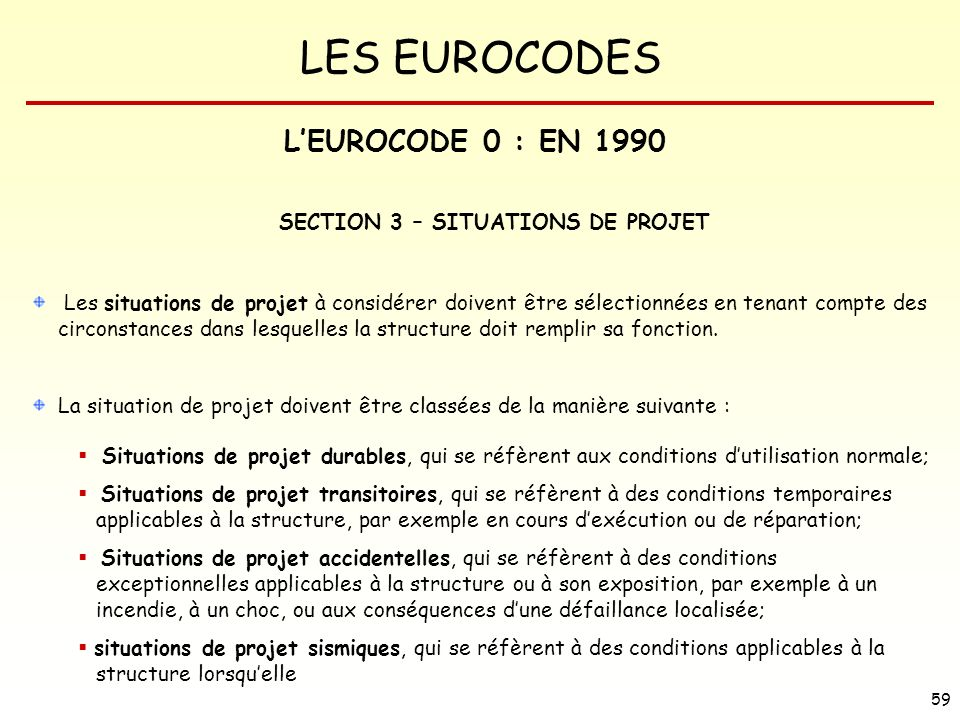 SECTION 3 – SITUATIONS DE PROJET
