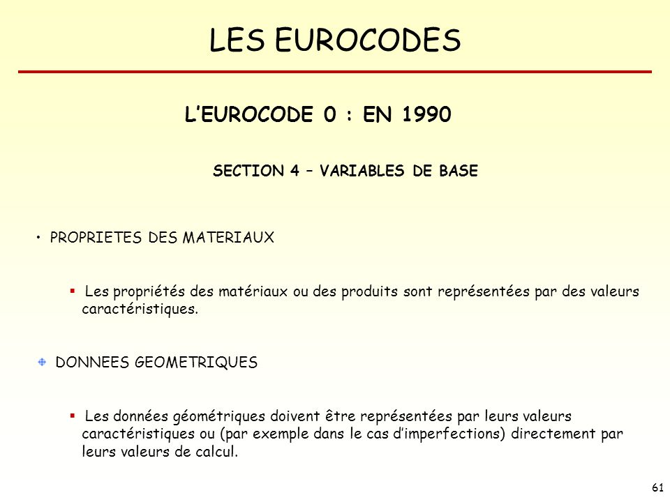 SECTION 4 – VARIABLES DE BASE