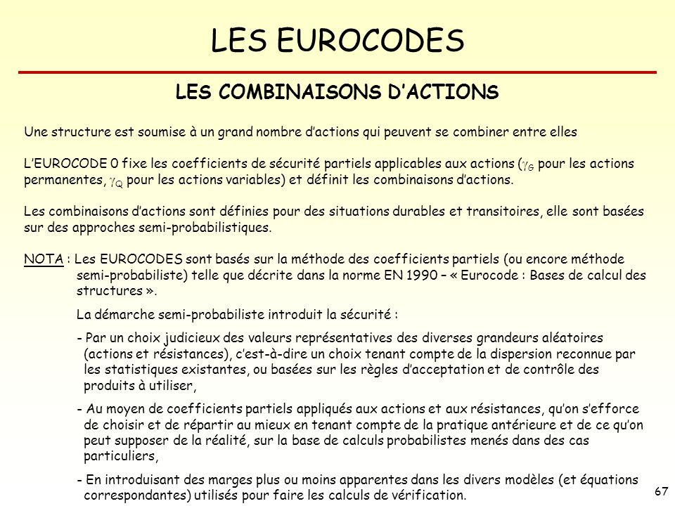 LES COMBINAISONS D'ACTIONS