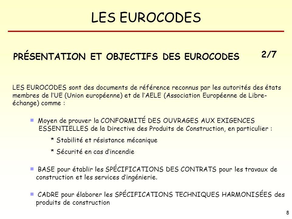 PRÉSENTATION ET OBJECTIFS DES EUROCODES 2/7
