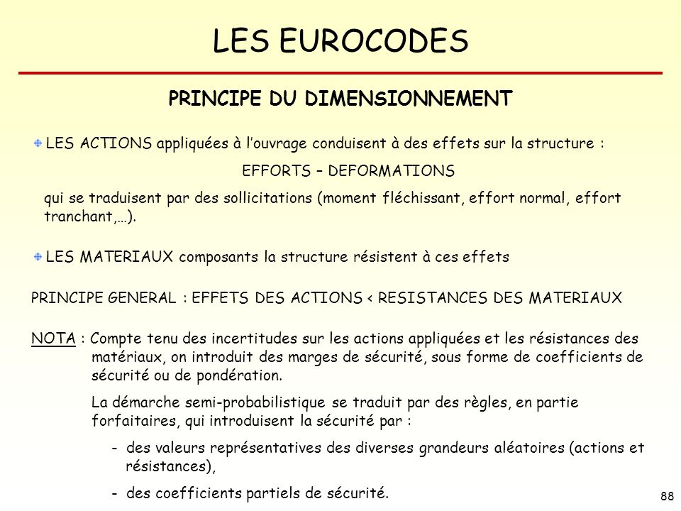 PRINCIPE DU DIMENSIONNEMENT