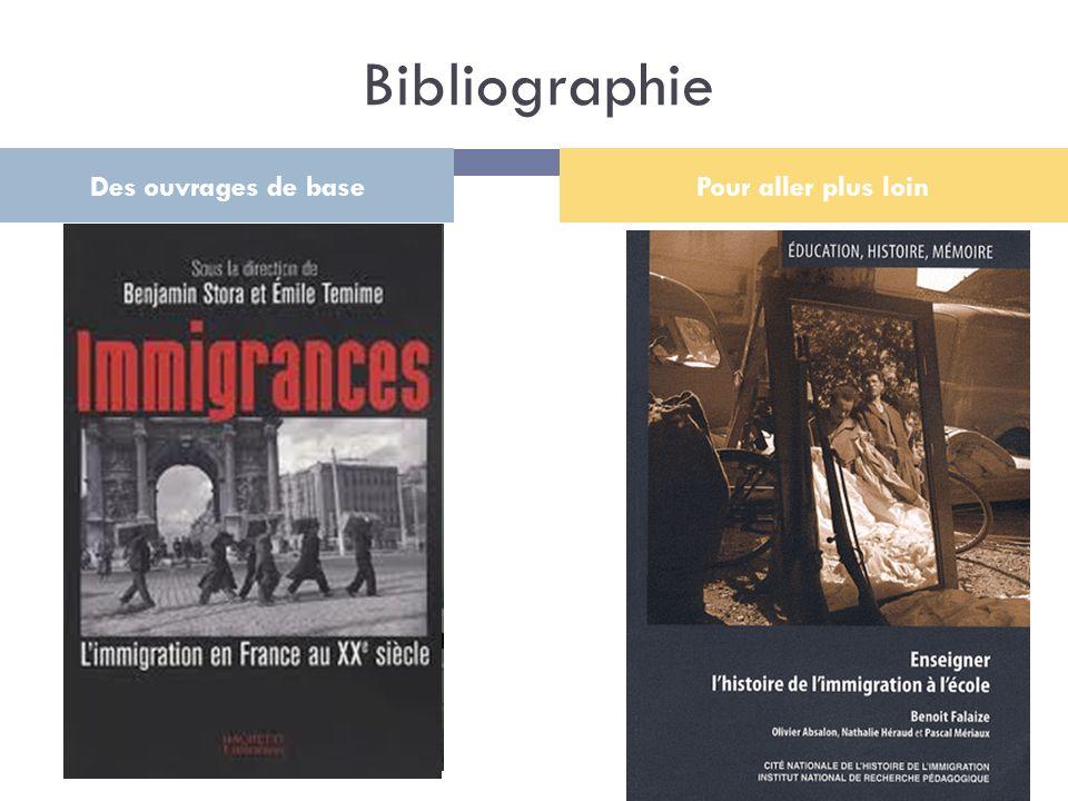 Bibliographie Des ouvrages de base Pour aller plus loin