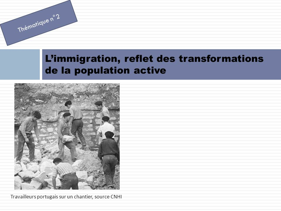 L'immigration, reflet des transformations de la population active
