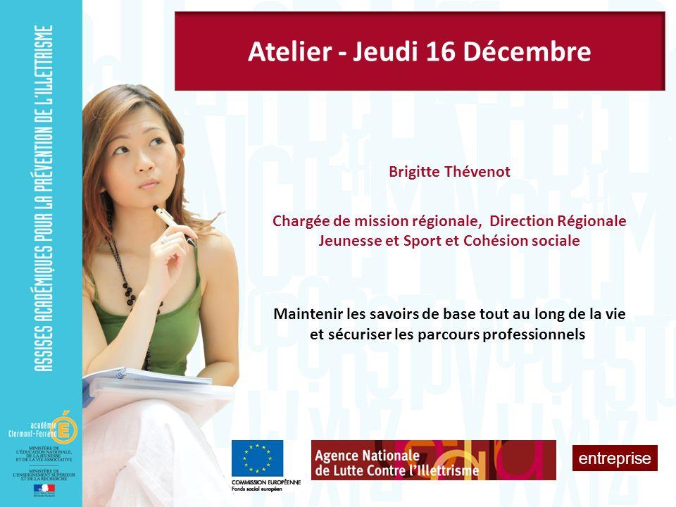 Atelier - Jeudi 16 Décembre