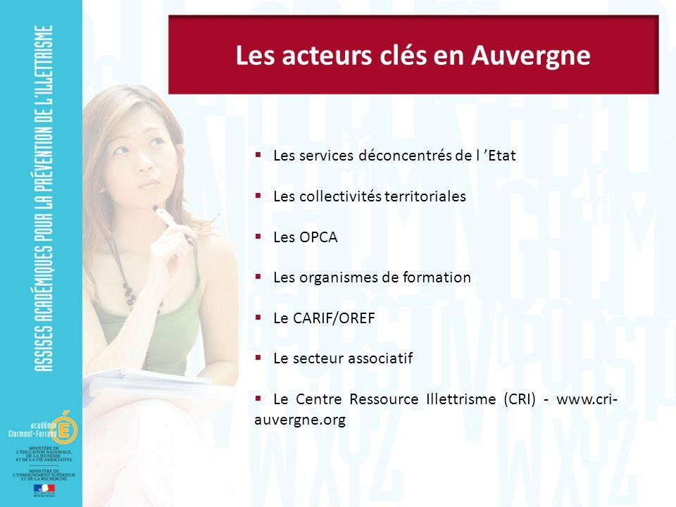 Les acteurs clés en Auvergne